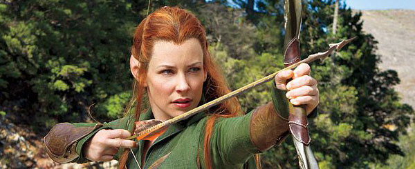 Evangeline Lilly Hunts in The Hobbit