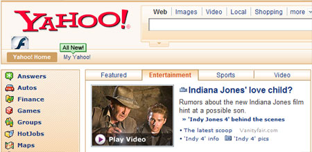 Yahoo Indiana Jones