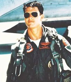 Tom Cruise in Top Gun Movie