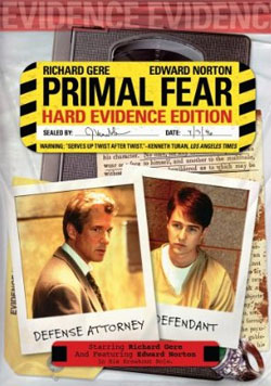Primal Fear Hard Evidence Edition DVD Ciover