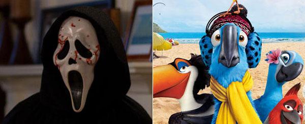 Box Office Battle: Scream 4 vs. Rio