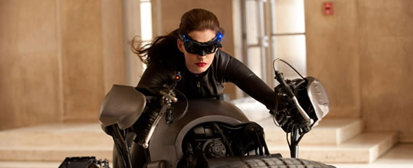 Catwoman/Selina Kyle Straddles the BatPod (Photo)
