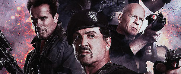 Arnold, Willis and Stallone in First Expendables 2 Poster!