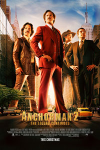Anchorman 2: The Legend Continues movie poster